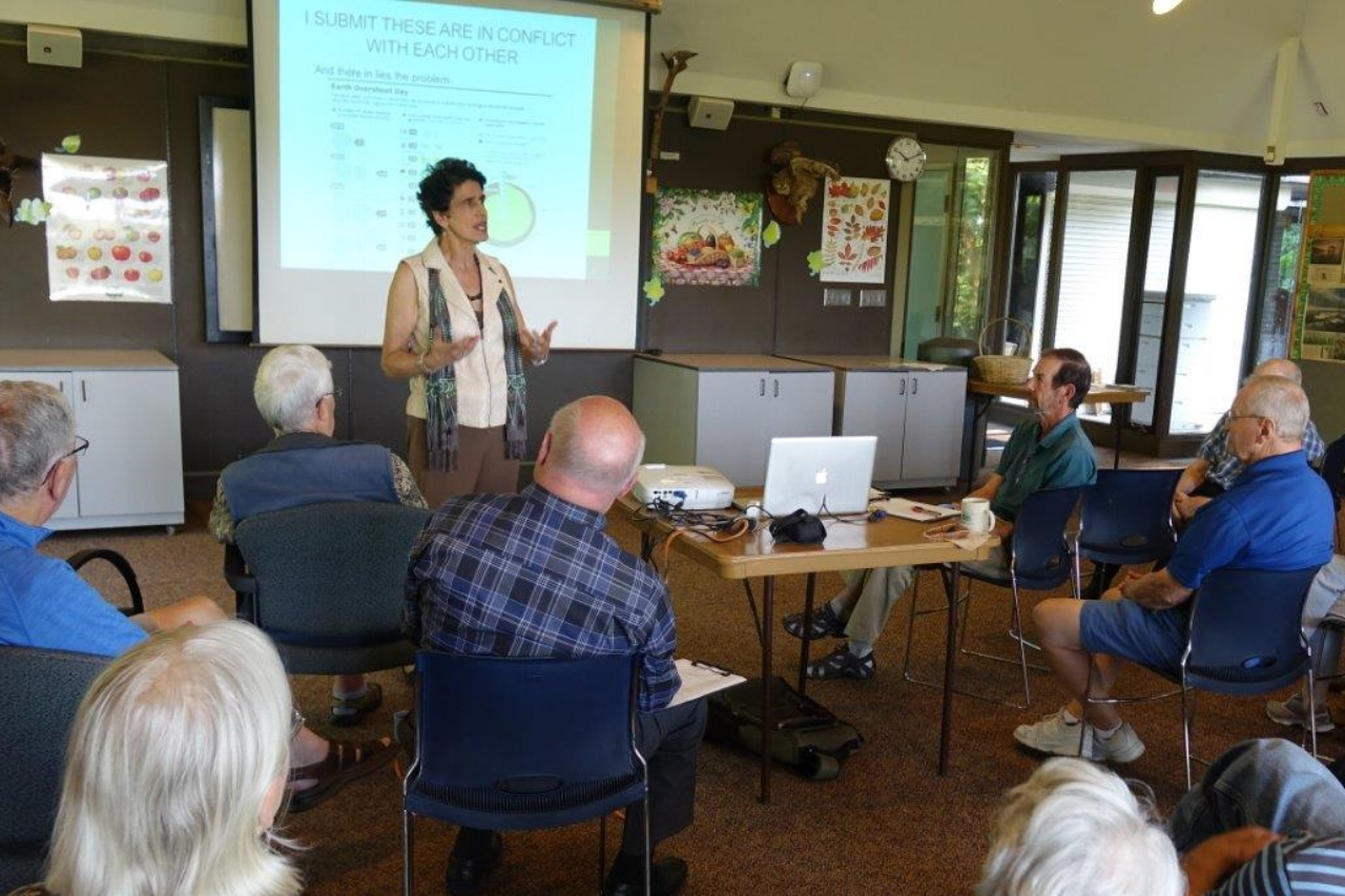 Hire Karen to Speak at Your Next Event - Karen is an engaging speaker on topics ranging from over-population to wild plant recipes. She is available for talks, interviews, and book signings.