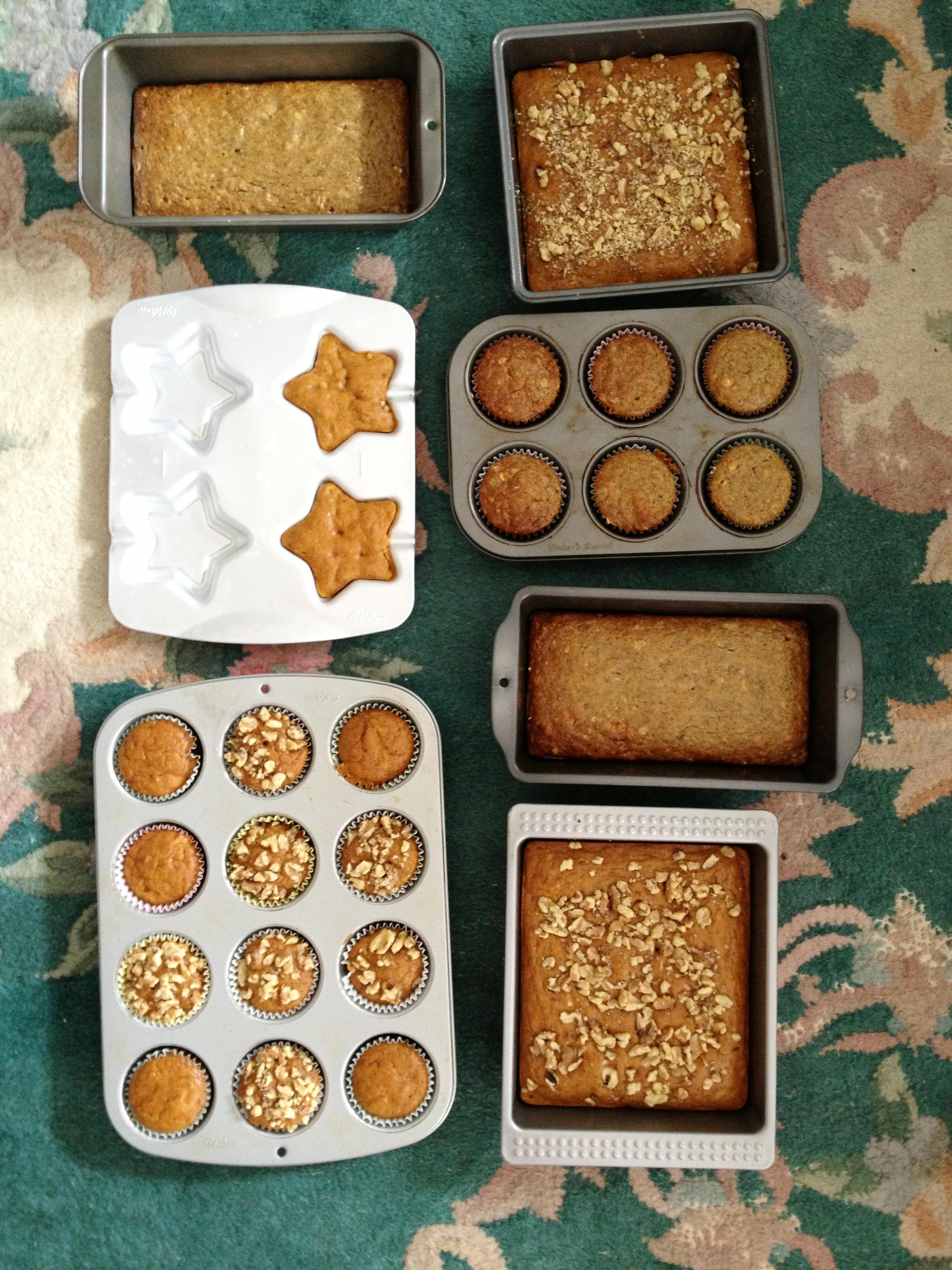 whole wheat pumpkin bread -