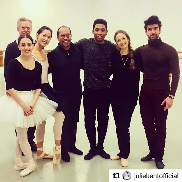 """So happy to dance again 💃🏻🧚🏻♀️ #afterlongbreak💪  #sleepingbeauty #thewashingtonballet #happynewyear2019  #Repost @juliekentofficial with @get_repost ・・・ Day one of staging The Washington Ballet's first ever full length production of """"The Sleeping Beauty""""! #greathonor #greatresponsibility #greatlove #tributetomymentors @thewashingtonballet #sleepingbeauty 💗💗💗💗💗💗"""