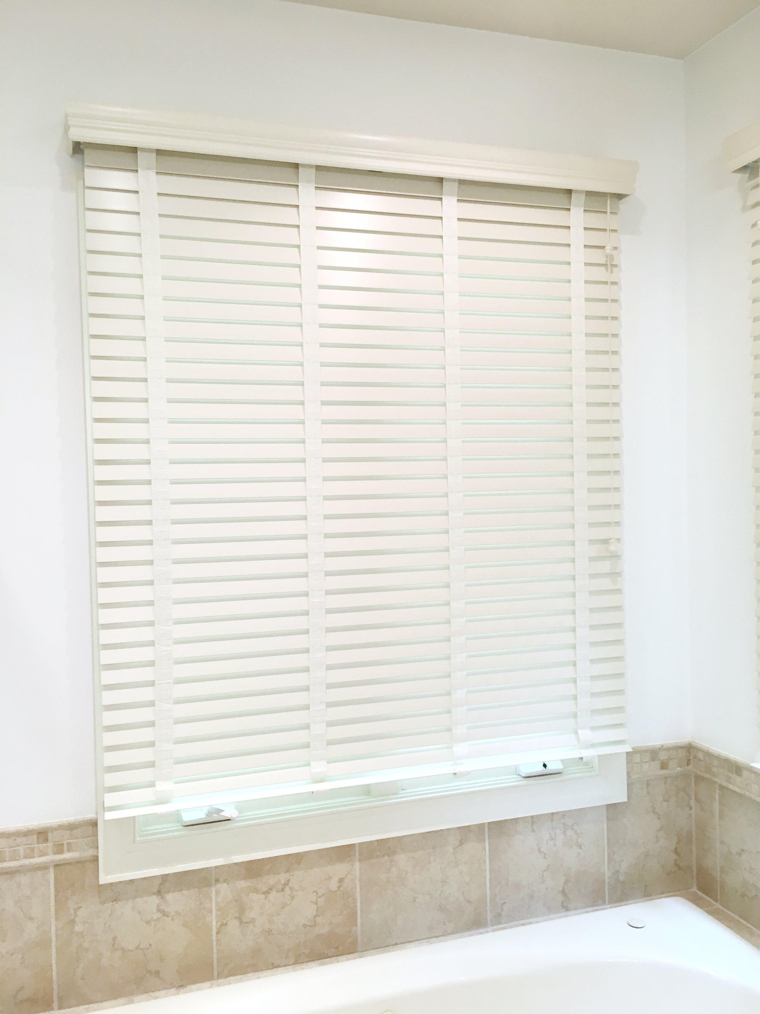 3rdGenBlinds custom window blinds in master bathroom