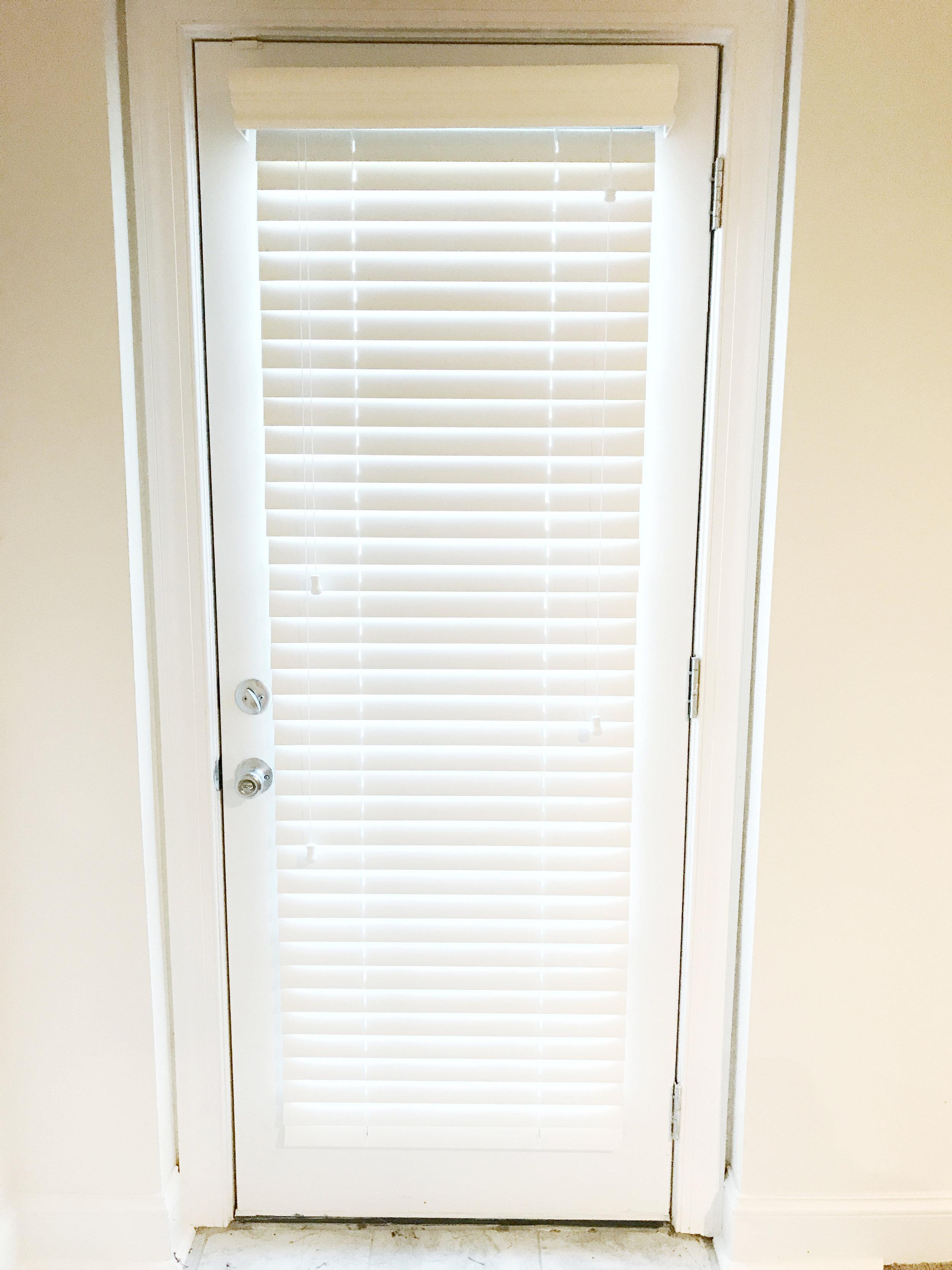 3rdGenBlinds white door window blinds