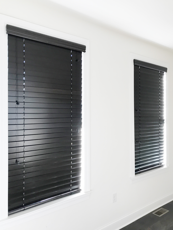 3rdGenBlinds black custom window blinds