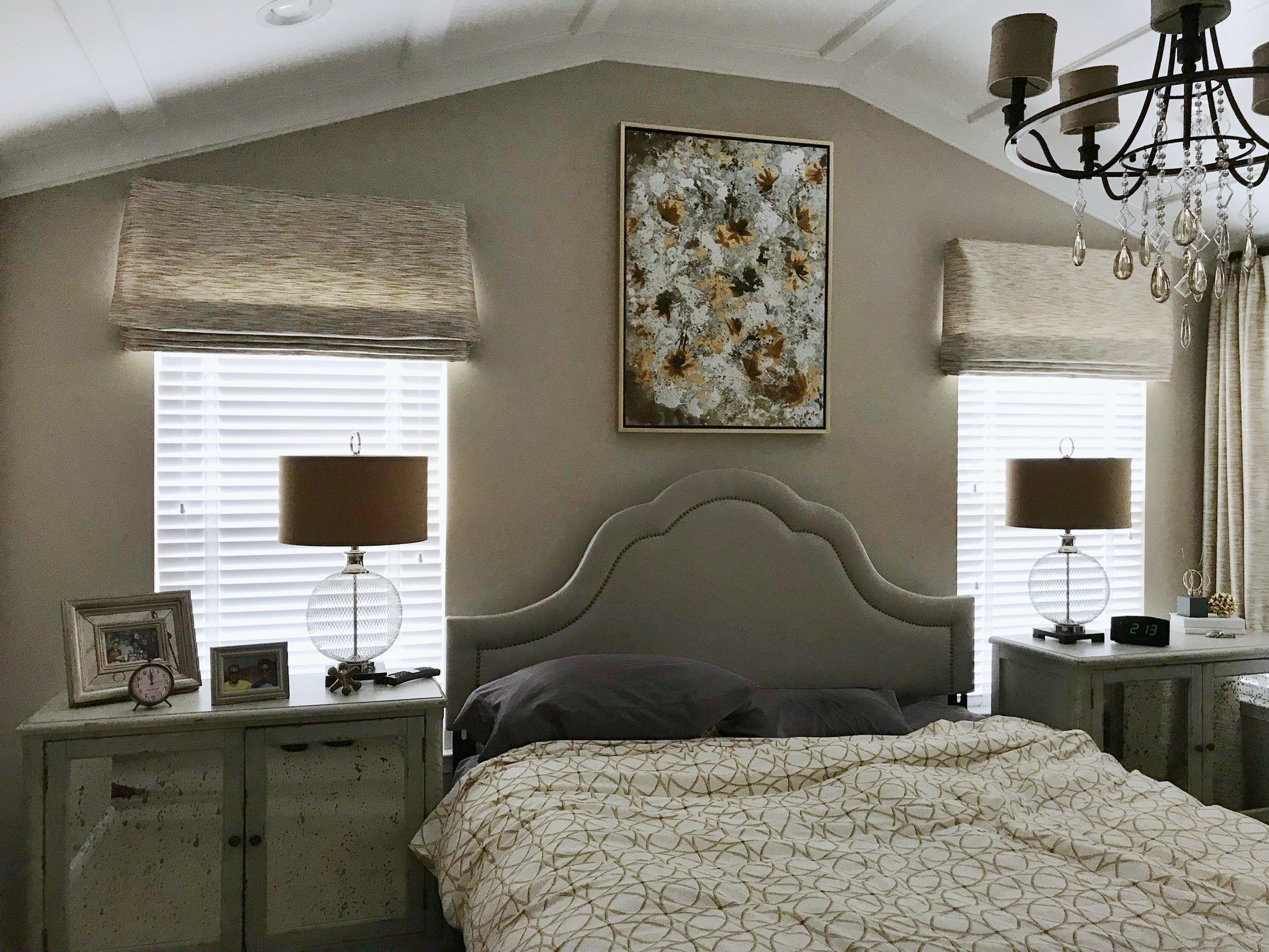 3rdGenBlinds custom window blinds in master bedroom