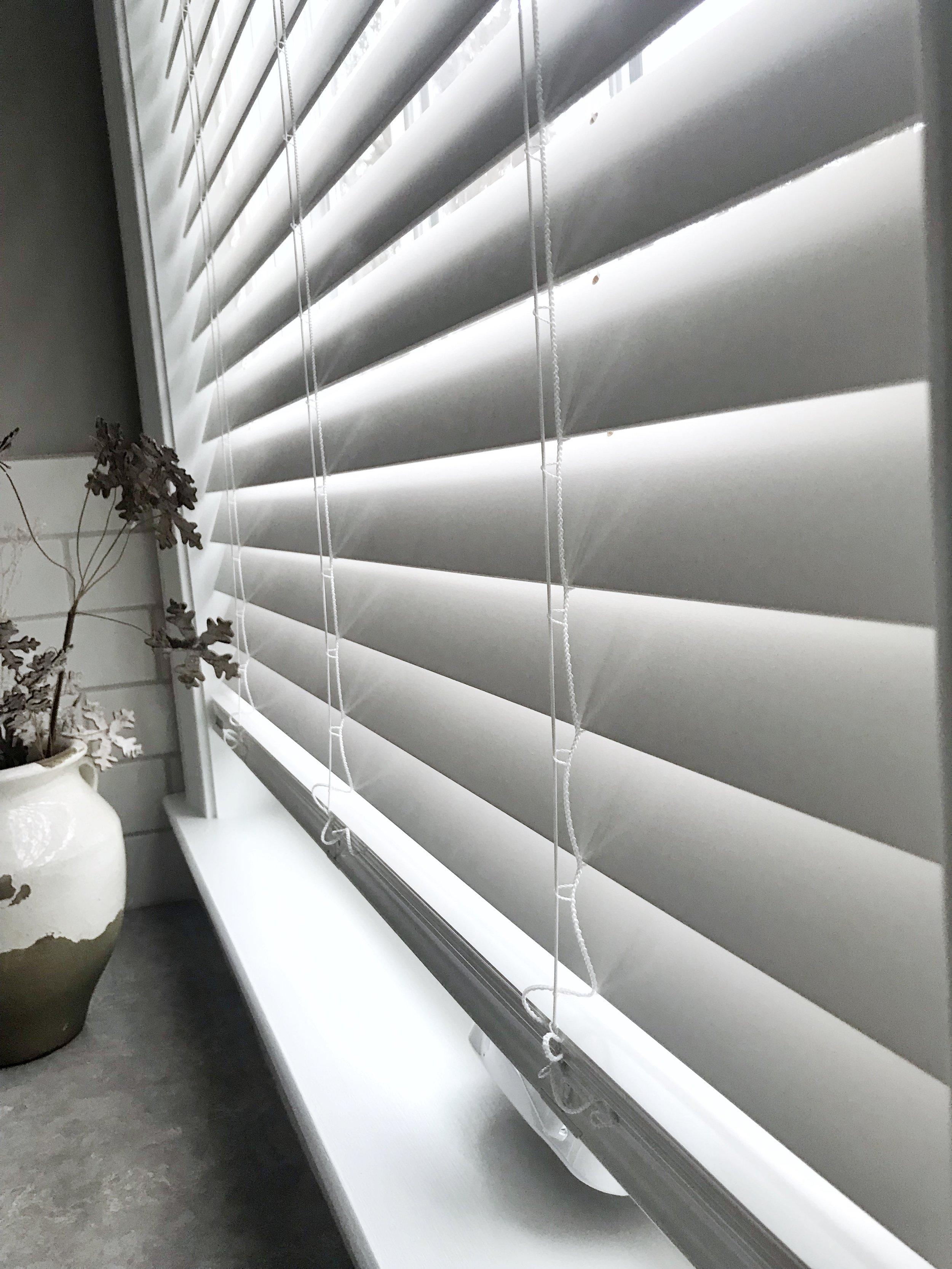 White custom window blinds by 3rdGenBlinds