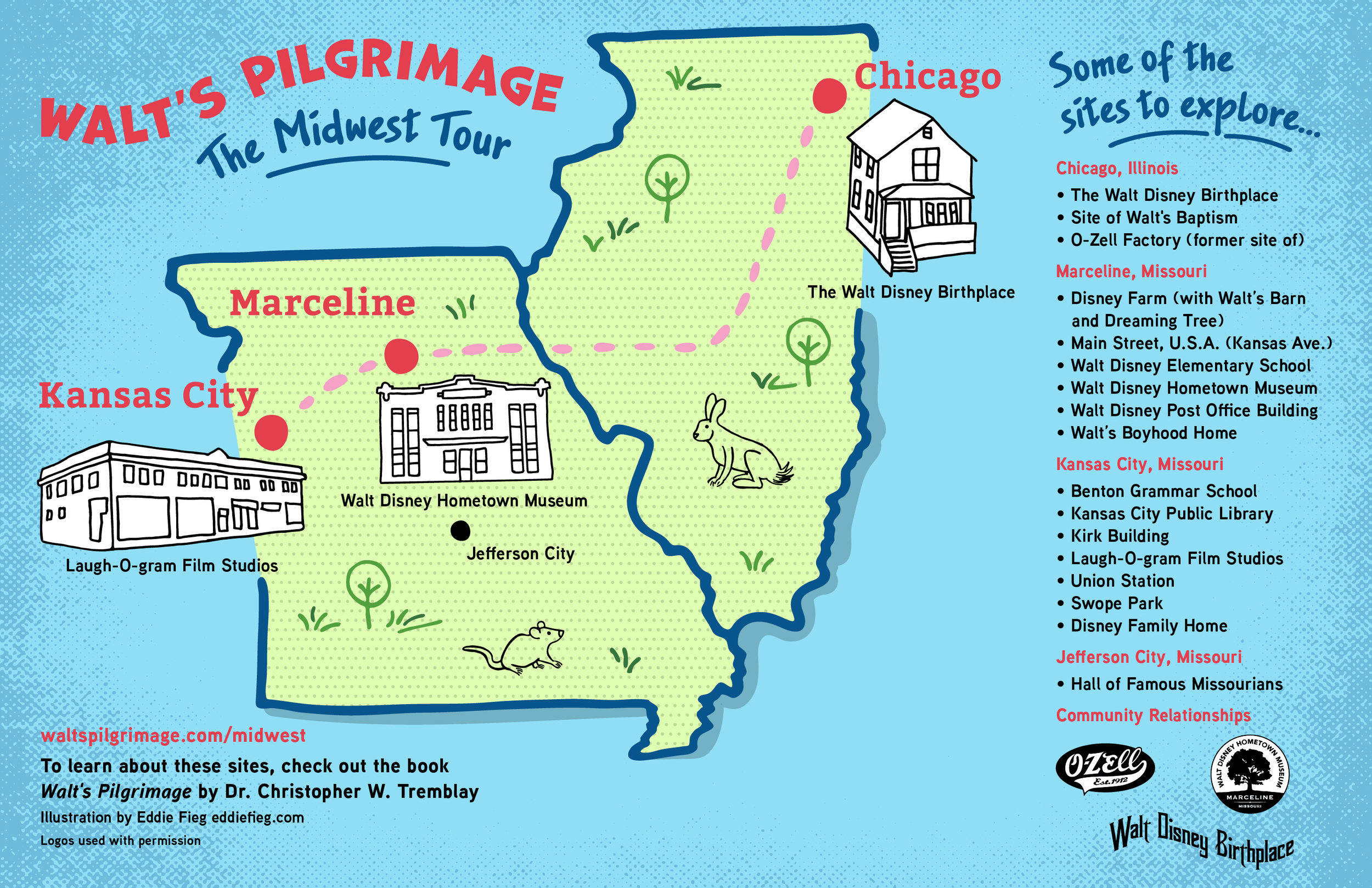 Midwest Map illustrated and designed by  Eddie Fieg  of Chicago.