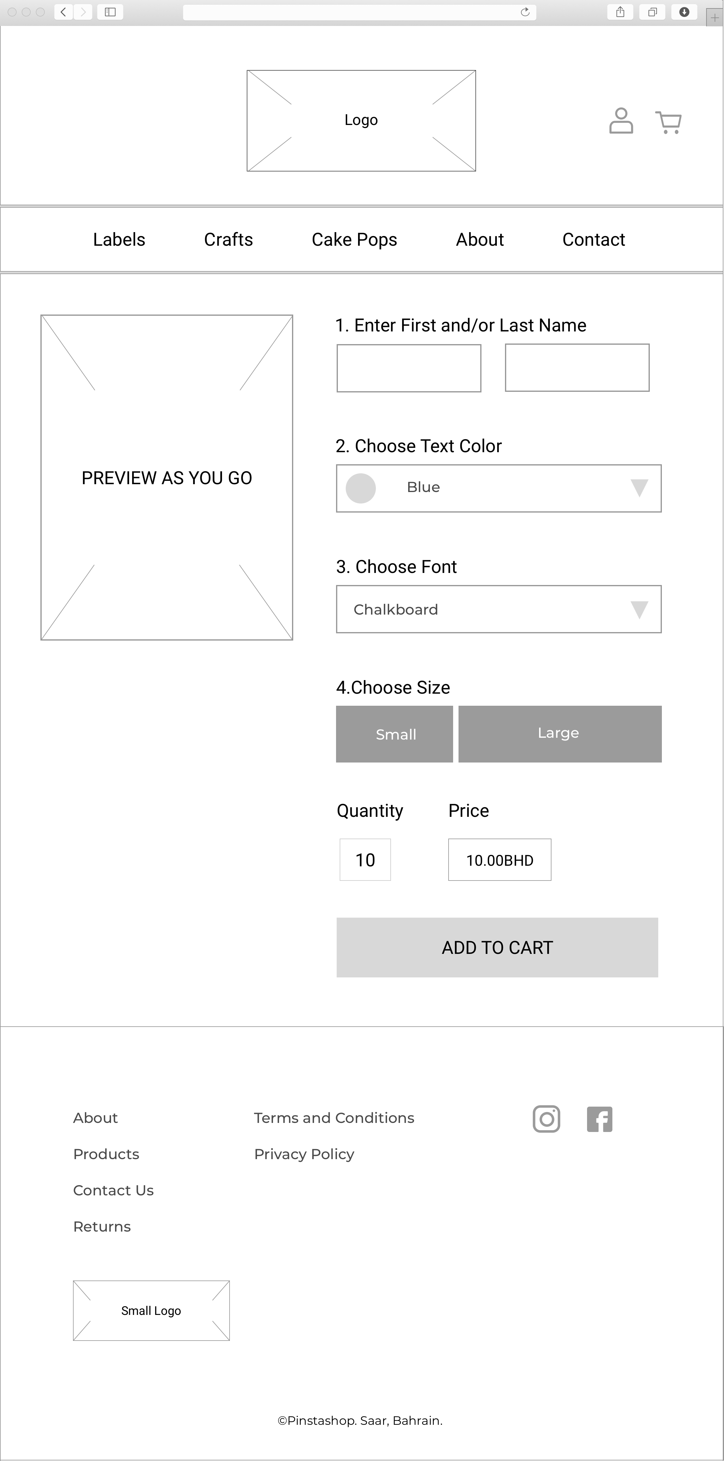 Label Ordering Page