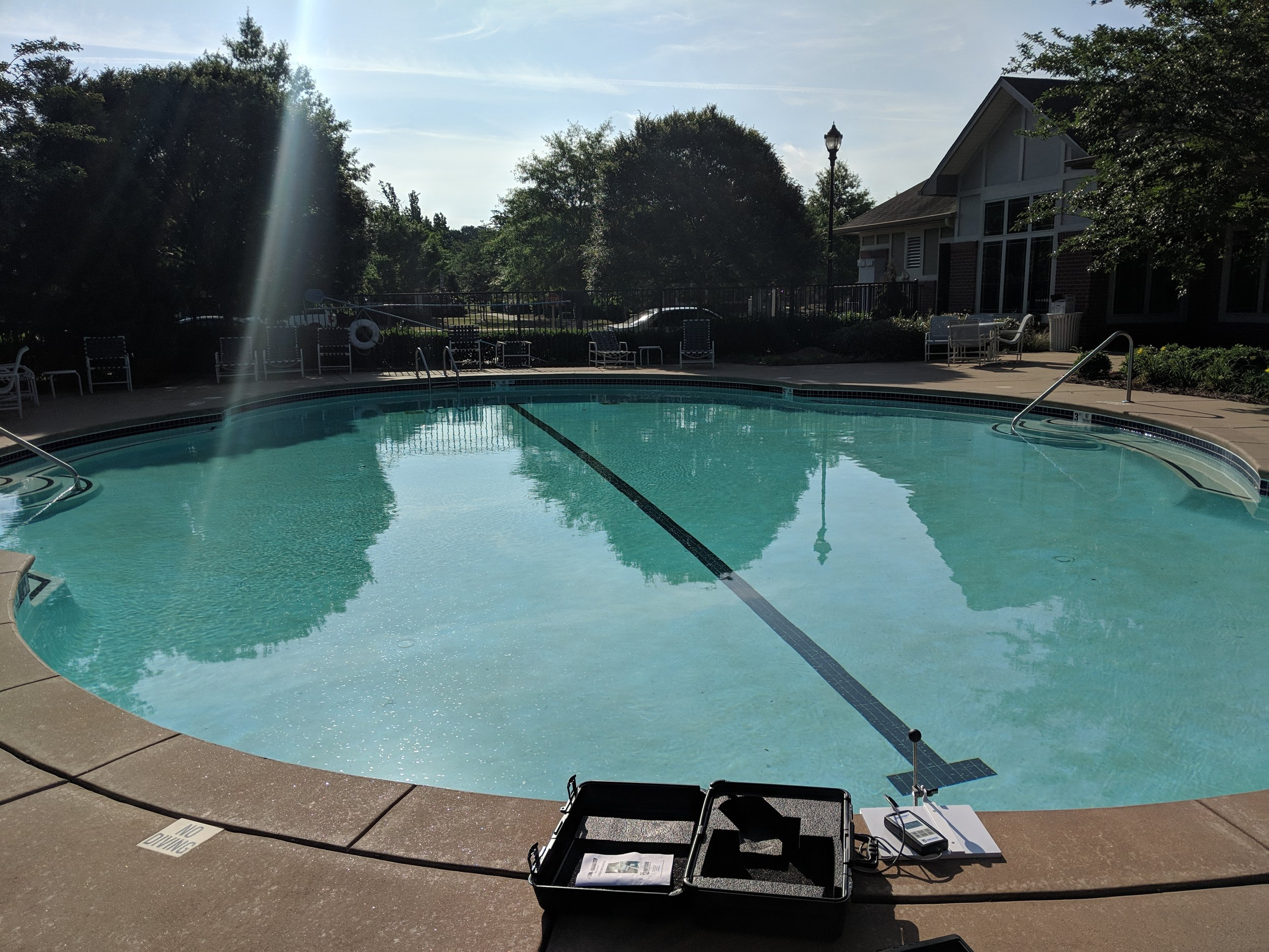 We do pool leak detection - With the latest technology, we can tell you if you have a leak, and how big it is!