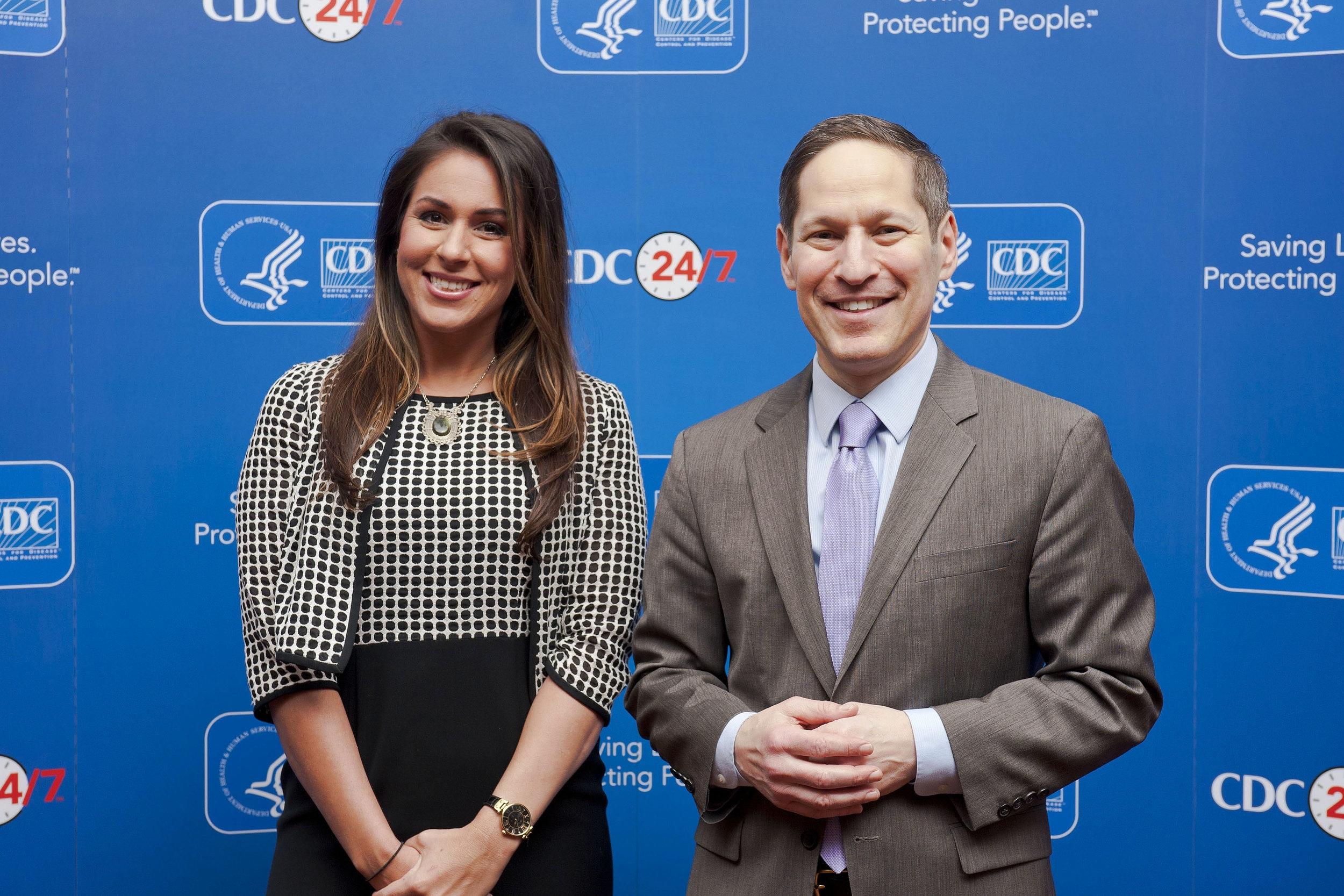 Former CDC Director, Tom Frieden and me, December 2016