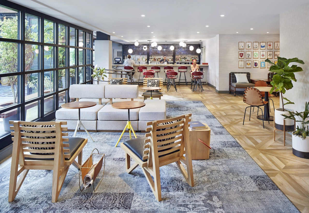 Lobby Lounge - Welcoming arrival that is cheerful, bright, & airy