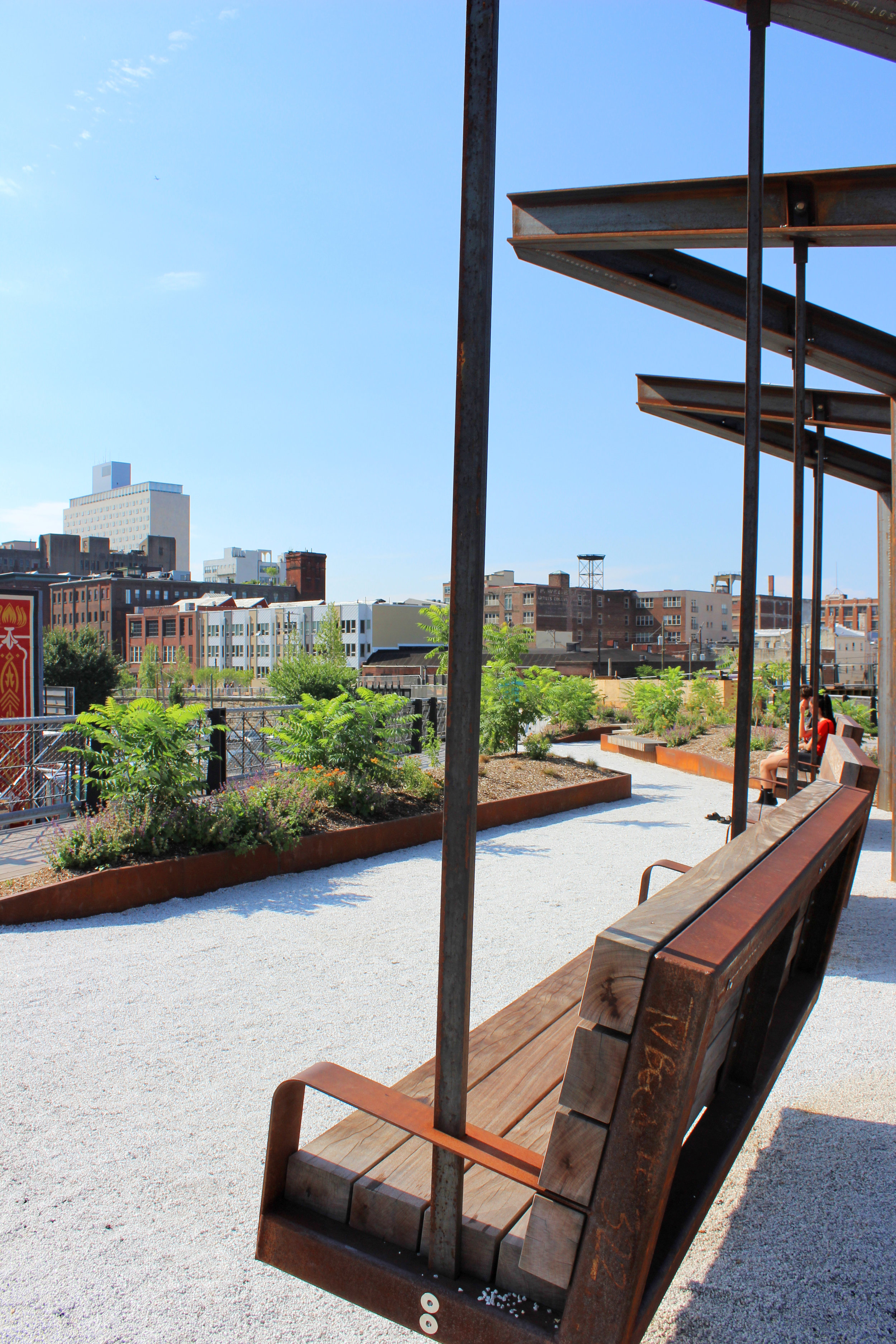 Walking the New Rail Park in Philly - wear she blossoms