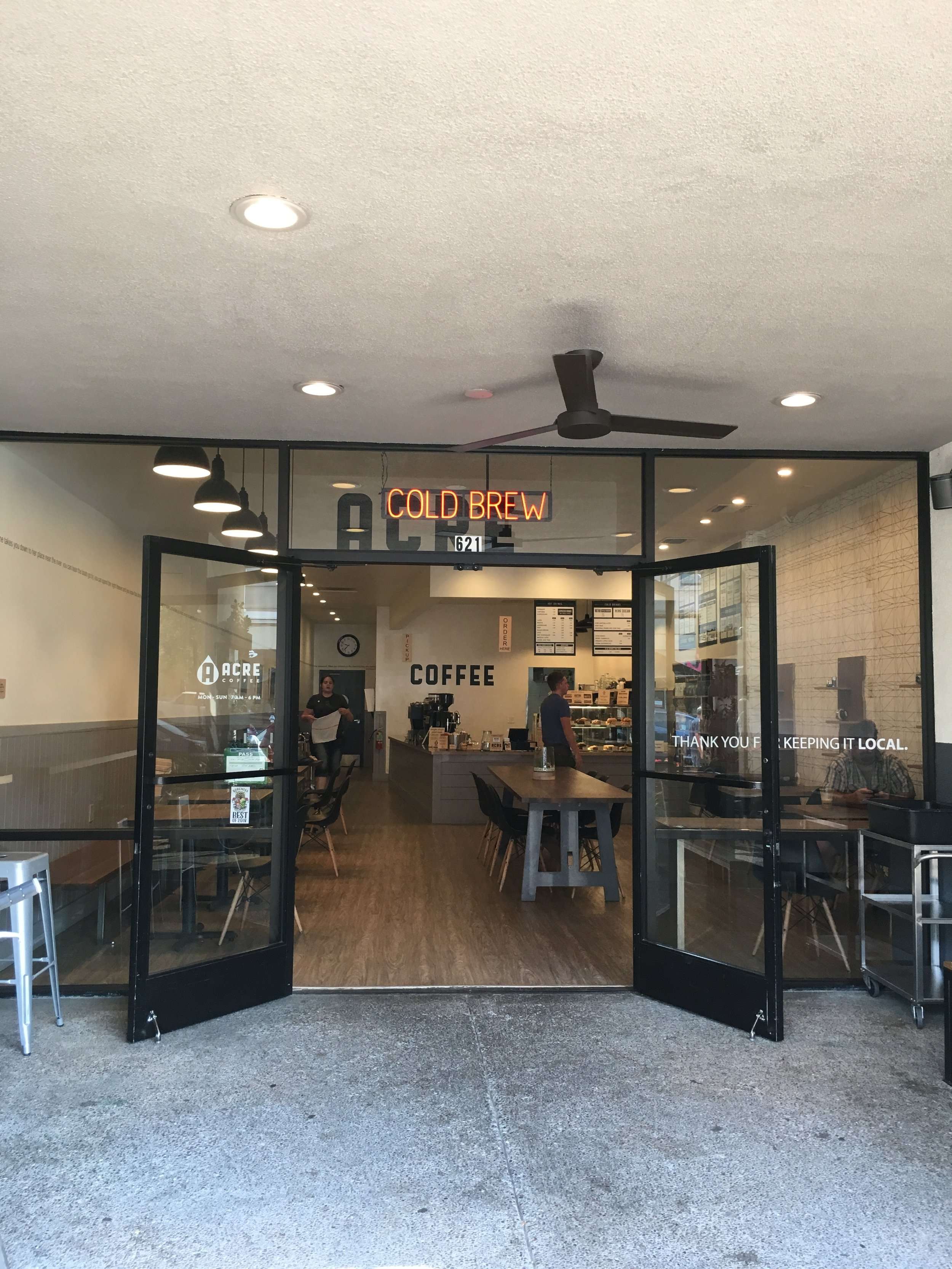 Twenty Four Hours in California Wine Country - Acre Coffee in downtown Santa Rosa