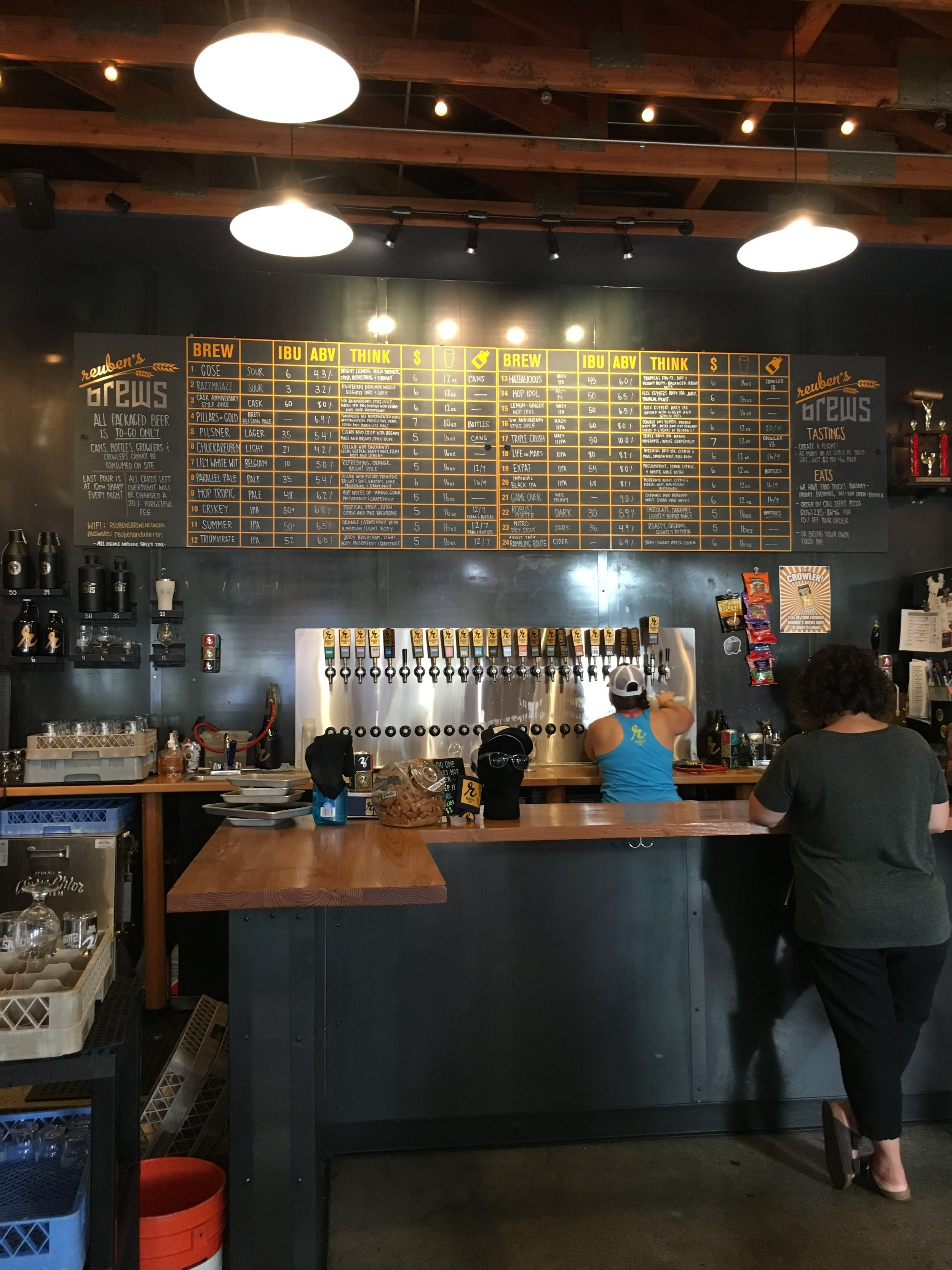 What to See, Eat, and Do in Seattle: Reuben's Brews - wear she blossoms