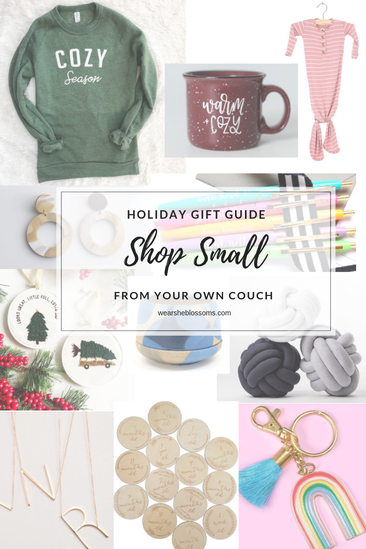 Holiday Gift Guide: Shop Small from Your Couch - wear she blossoms