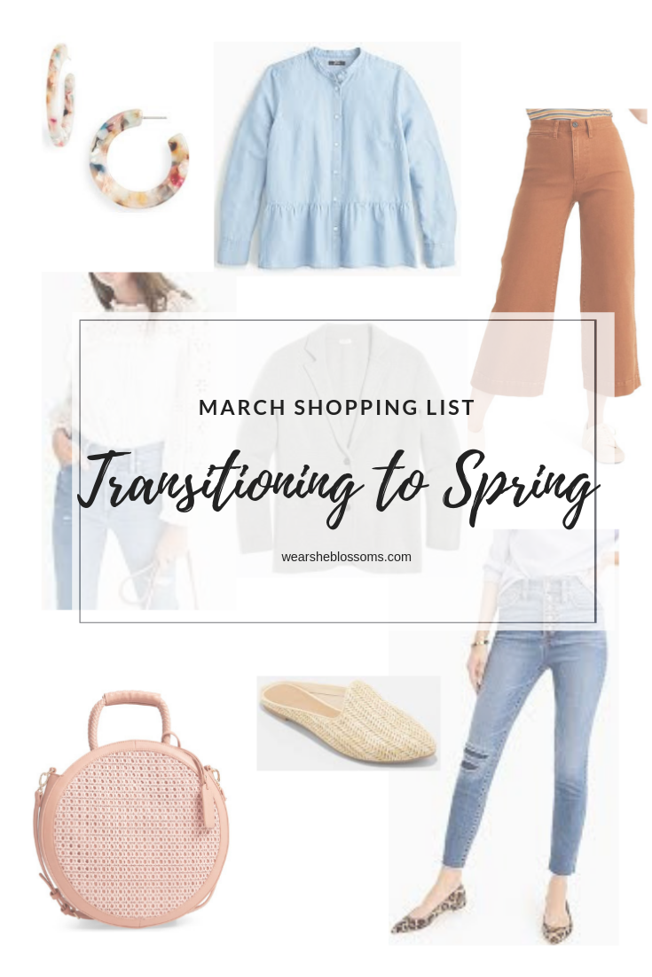 Shopping List: Transitioning to Spring - wear she blossoms