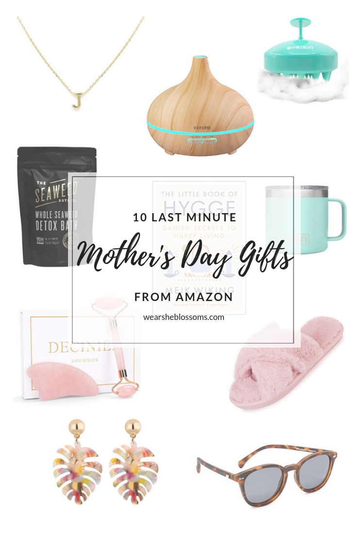 Ten Last Minute Mother's Day Gifts from Amazon - wear she blossoms