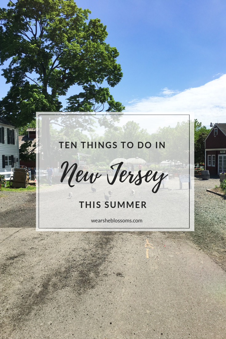Ten Things to Do in New Jersey This Summer That Aren't Going Down the Shore - wear she blossoms