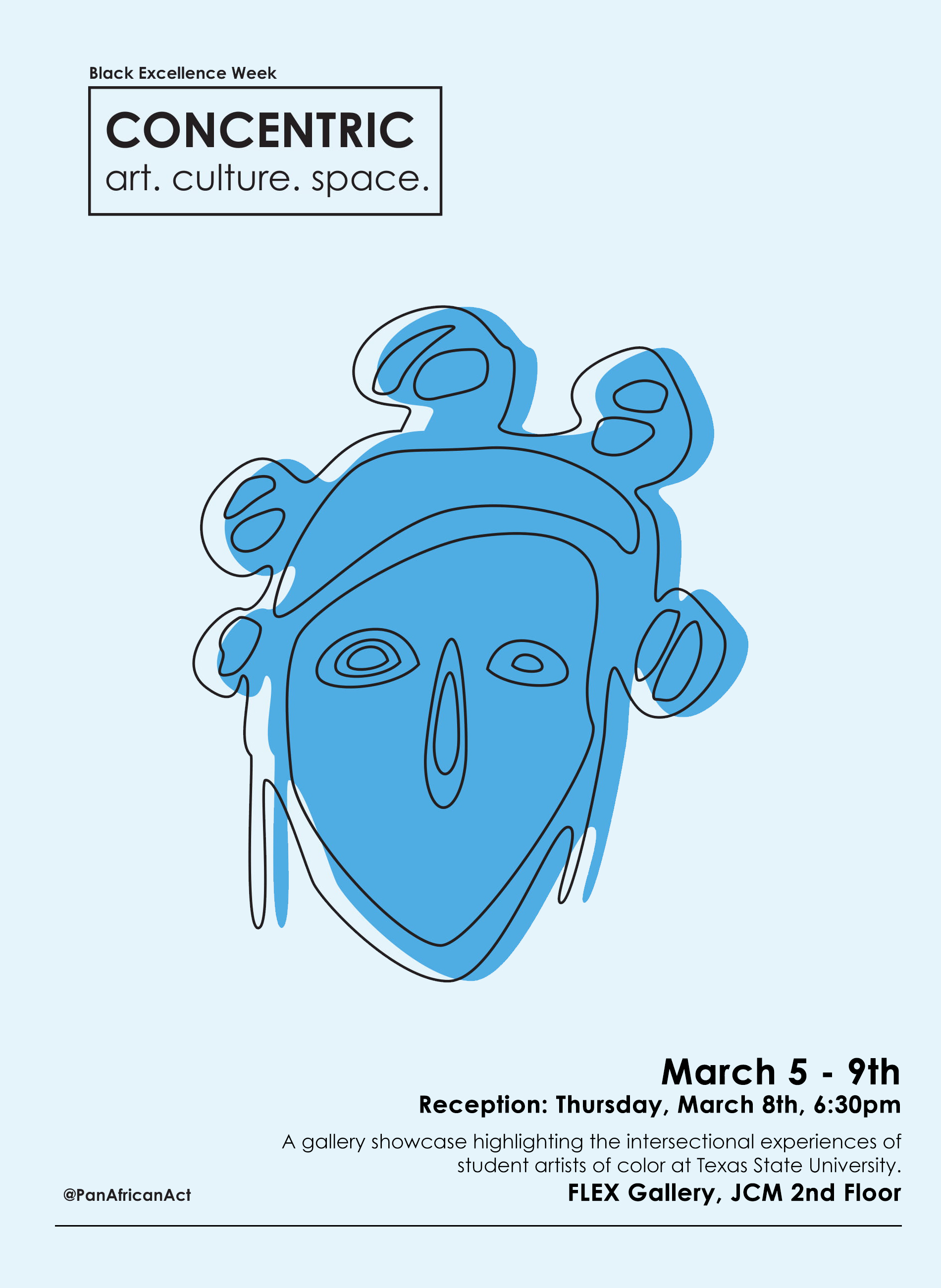 Concentric (Curated by Tafari Robertson), FLEX space exhibition and event, On view March 5–March 9, 2018