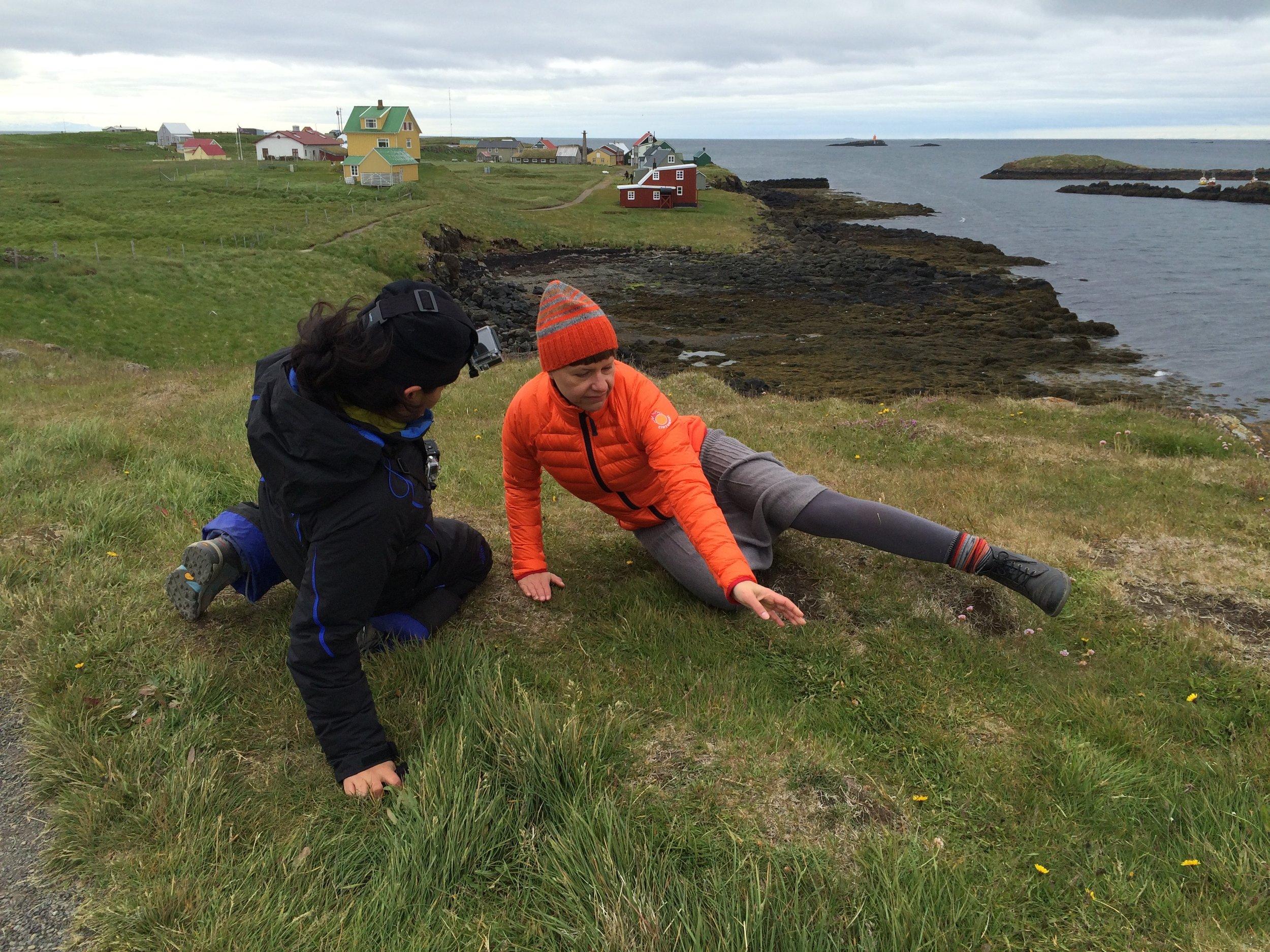Ana Baer Carrillo and  Heike Salzer  in Flatey, Iceland filming  WECreateIce,  2016. Homepage: Ana Baer Carrillo and Heike Salzer at Jökulsárlón, in Iceland filming  WECreateIce , 2016. Images:  Ingi Jensson .