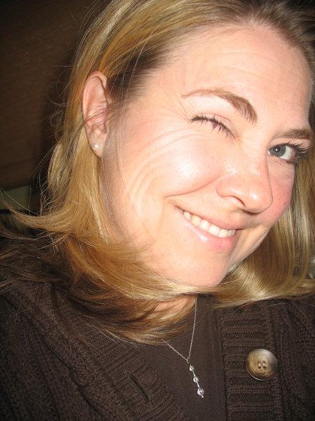 Artist Melissa Combs winking photo