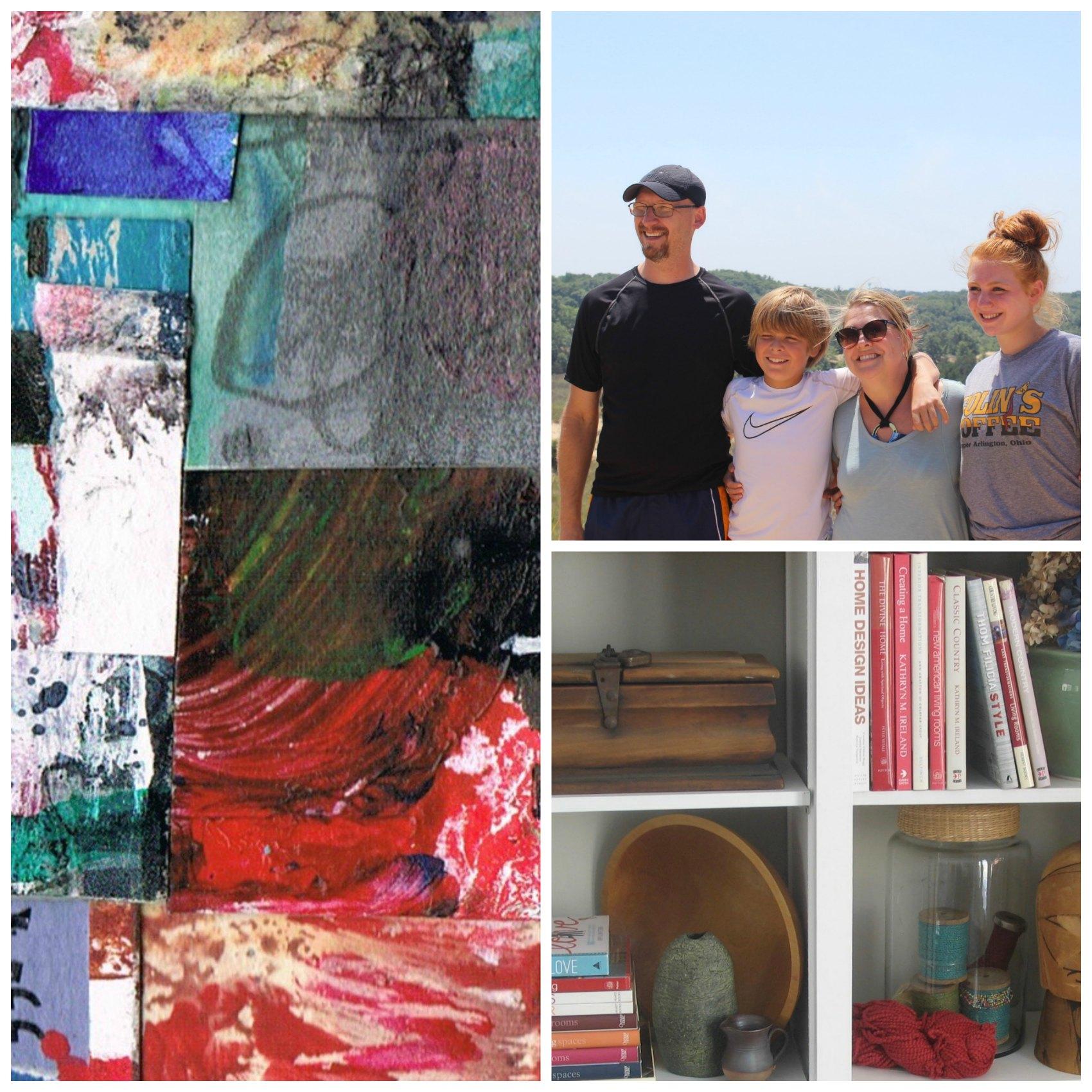 Artist, Melissa Combs' loves art, family & home decor
