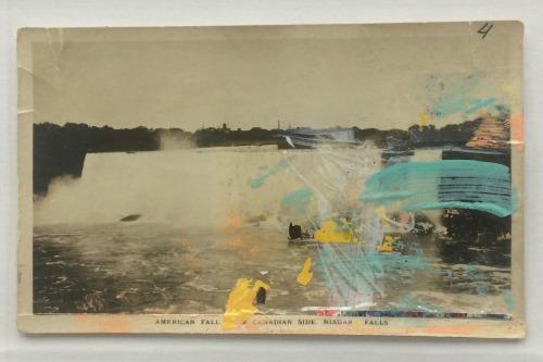 Postcard w/pulled paint method