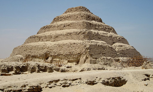 Imhotep is credited with designing the pyramid of Djoser in Egypt.