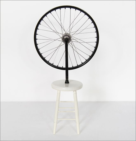 """Roue de bicyclette"" by Marcel Duchamp was one ""readymade"" that literally turned the art world upside down, according to Kurt von Meier."
