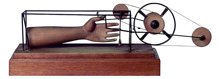 "Giacommetti's ""Hand Caught by a Finger"""