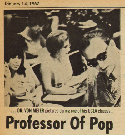 By 1967 Kurt had become the most popular professor on the UCLA campus, but his unconventional approach drew the ire of the administration and fellow faculty.