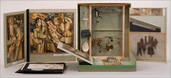"""Duchamp's limited edition """"Green Box"""" included miniature reproductions of his earlier works."""