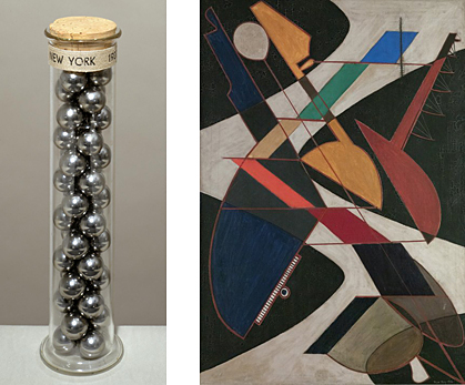 "Works by Man Ray - ""New York"" (left) and ""Orchestra"" (right)."