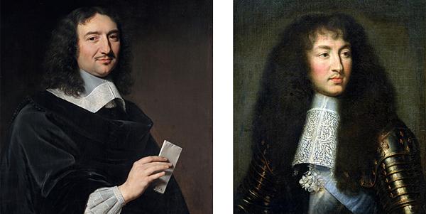 Left: Jean-Baptiste Colbert  Right: King Louis XIV