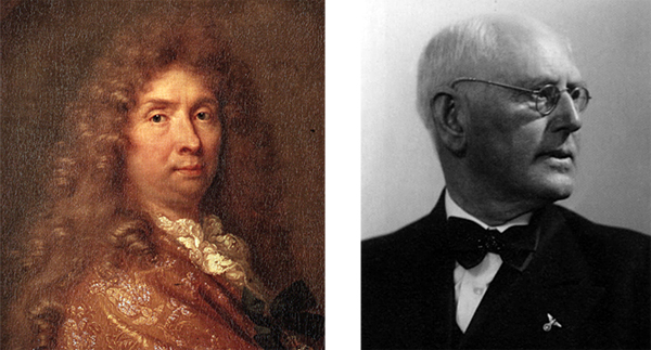 Influence over the arts -Left: Artist and theorist Charles Le Brun, Right: Nazi architect Paul Schultze-Naumburg.