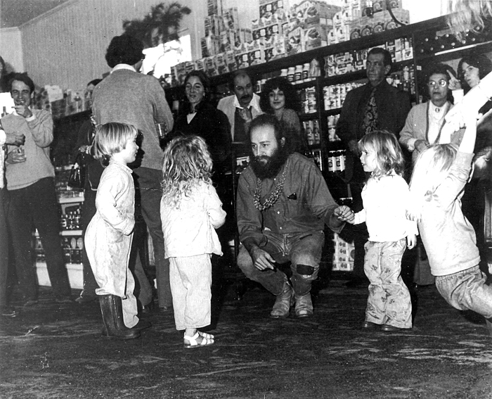 "The ""blond gang""- Zoe, Mimo, Shenin and Tashi - hanging out with Kurt in 1975 at an event at La Luna, the little and unassuming market that sits where the Oakville Grocery now operates. La Luna was just a stone's throw from the ranch."