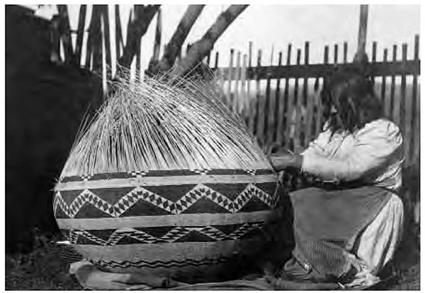 California's Pomo were particularly adept at complex and highly artistic basket weaving.