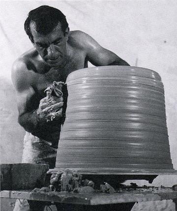 Sculptor Peter Voulkos.