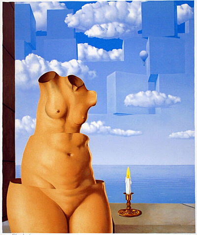 A surrealist work by Rene Magritte.