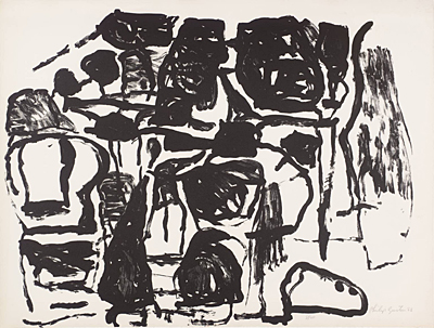 An untitled work by Philip Guston.