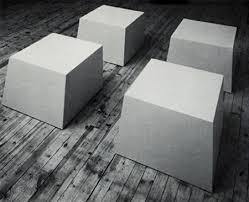Ann untitled fiberglas sculpture by Robert Morris, 1966.