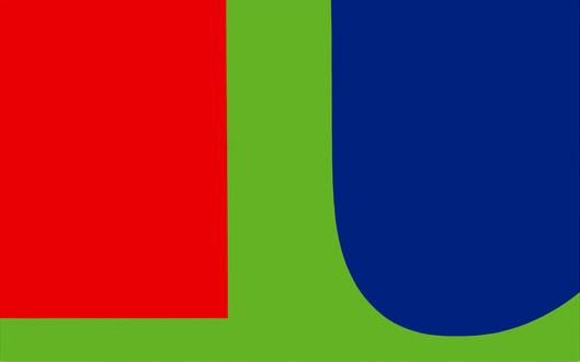 "Ellsworth Kelly's ""Red, Blue, Green""."