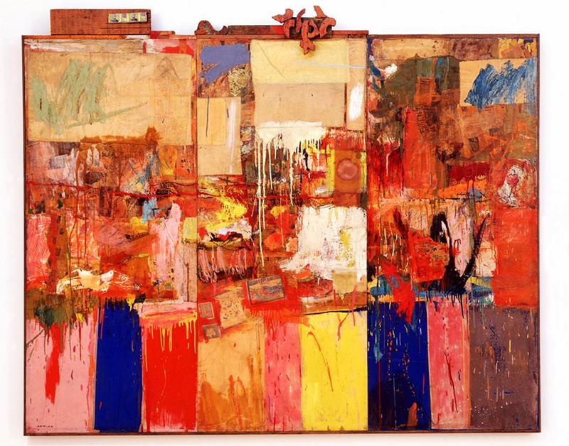 The work of Robert Rauschenberg in 1954.