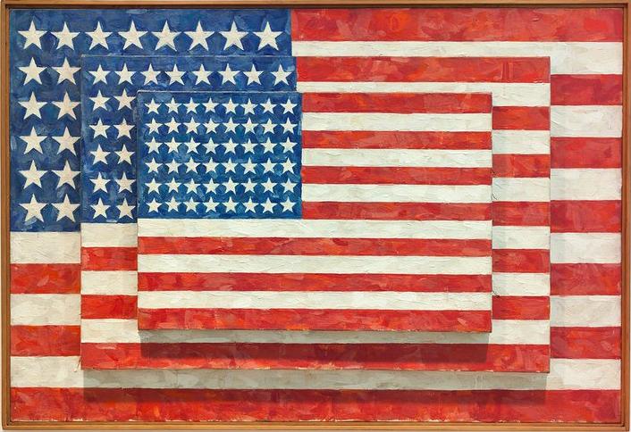 Jasper Johns' 1950's paintings presaged the Pop Art movement of the 60s.