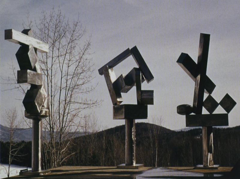 Sculptures in David Smith's CUBI series.