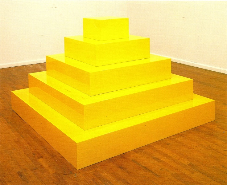 Yellow Pyramid  by John McCracken.