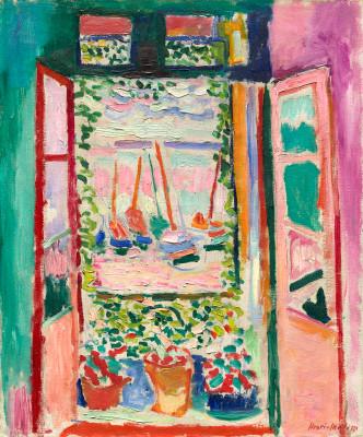 The Open Window, Collioure,  1914 by Henri Matisse.
