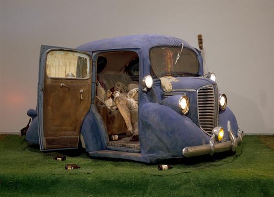Back Seat Dodge  by Ed Keinholz.