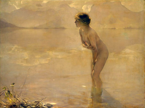 September Morn  by Paul Chabas.