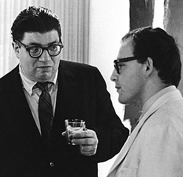 Kurt von Meier and Morton Feldman in Houston, TX - 1968.