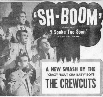 "Promotion of the mega-hit ""Sh-Boom"" included the image of a mushroom cloud."
