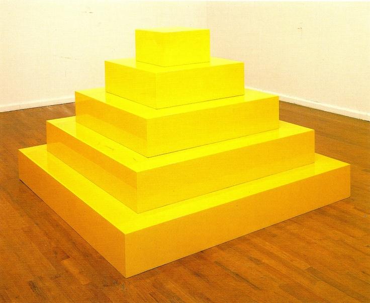 John McCracken's  Yellow Pyramid